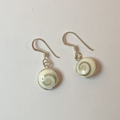Boucles d'oreilles Oeil de Sainte Luciede 1cm de diamètre, monté sur Argent 925/1000