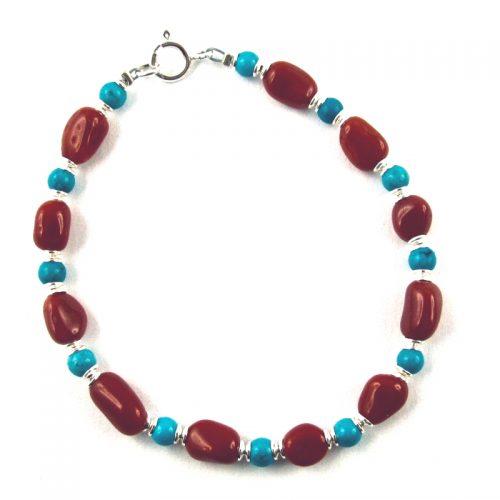 un bracelet aux couleurs de la méditerranée