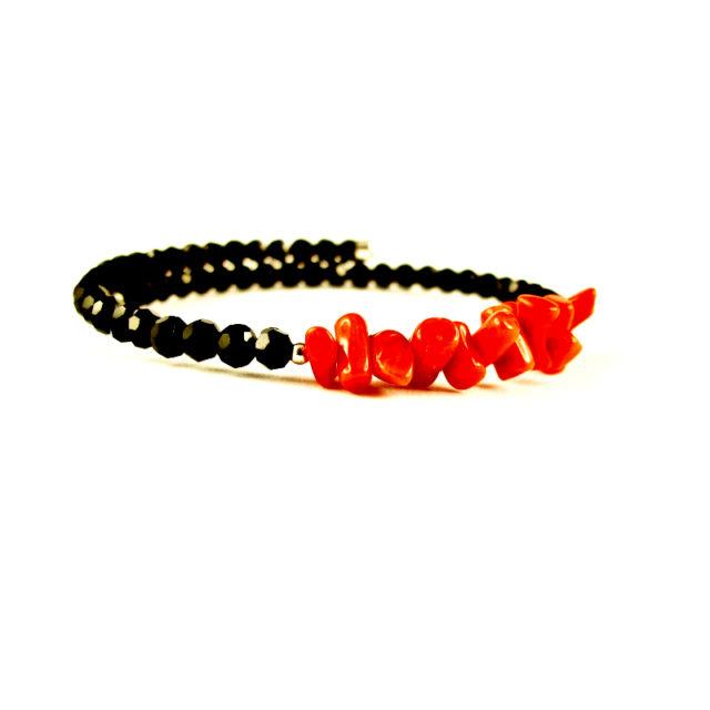bracelet memoire 1 rang et cristal