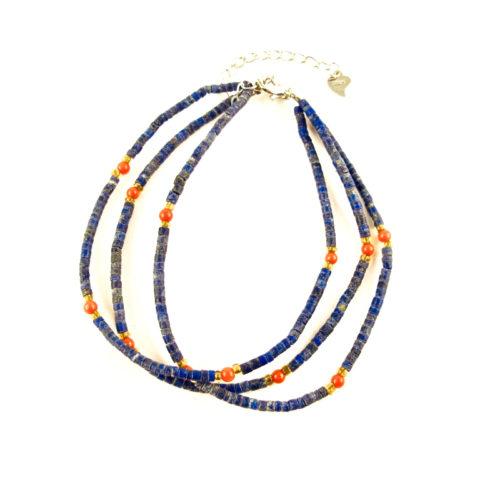bracelet hapy lapis lazuli et corail