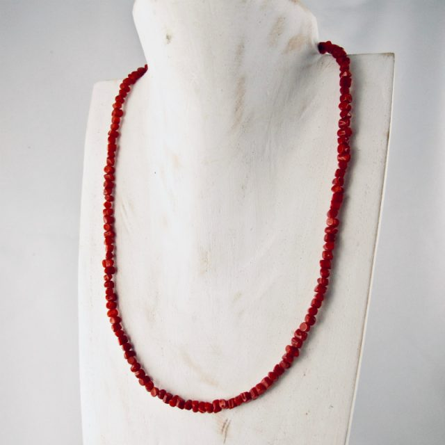 collier sassolini véritable corail rouge de méditerranée